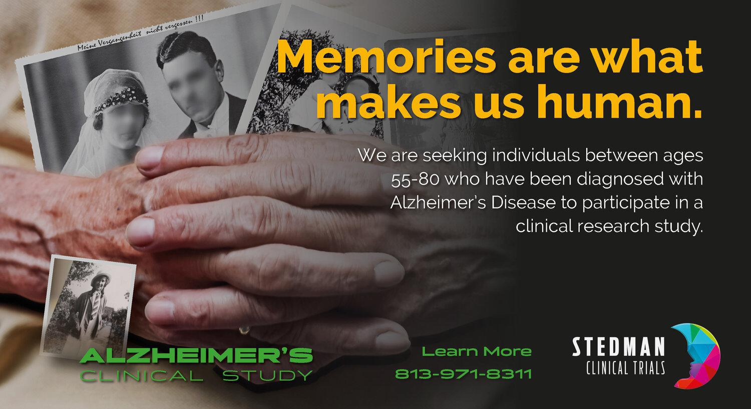 Alzheimer's Disease clinical research study