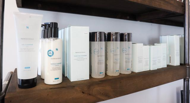 Skin Care Products Line up