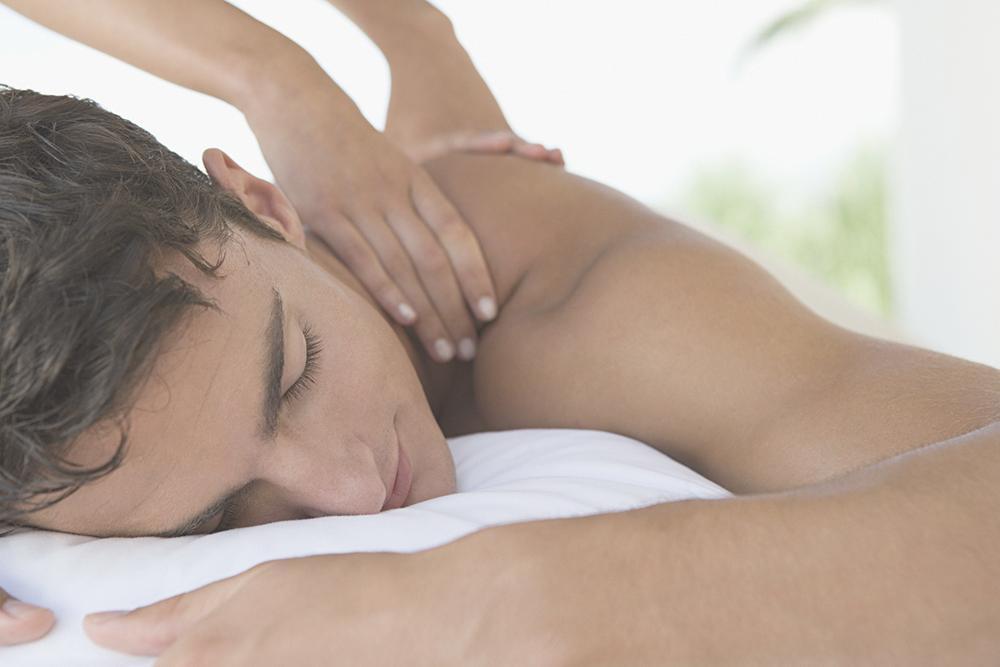 person gettng massage