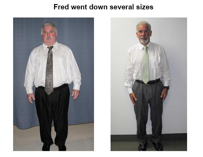 fred went down several sizes