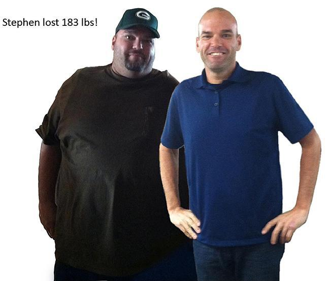 stephen lose 183 pounds