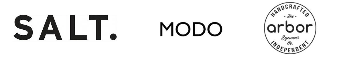 salt, modo and arbor brand logos