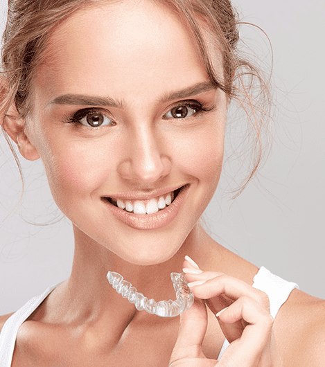 Model with Invisalign