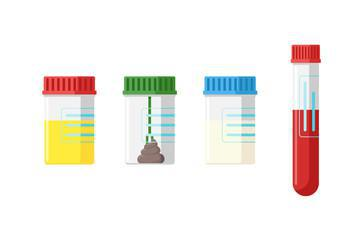 test containers and specimens graphic