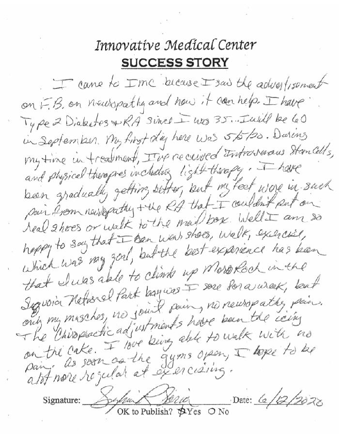 handwritten testimonials