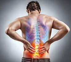man with spinal cord lower back pain