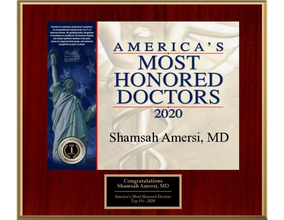 photo of Shamsah Amersi, MD