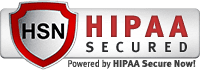 HIPAA Secured, Powered by HIPAA Secure Now! silver badge