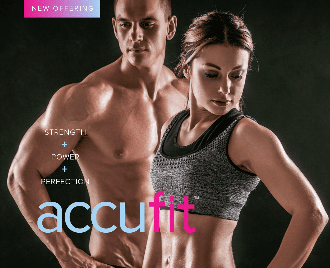 accufit logo with two fit models