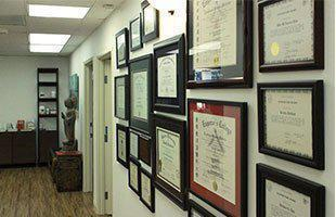 Certifications and Awards in the office
