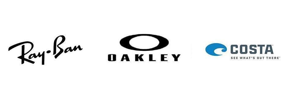 Ray-Ban, Oakley, Costa brand logos