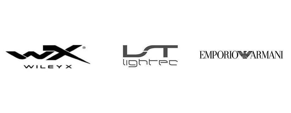 WileyX, Lightec, Emporio Armani brand logos