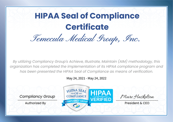 HIPAA Seal of Approval