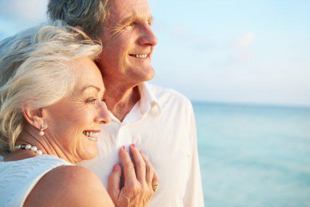 stock image of two people embracing