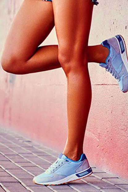 Woman's body in workout gear