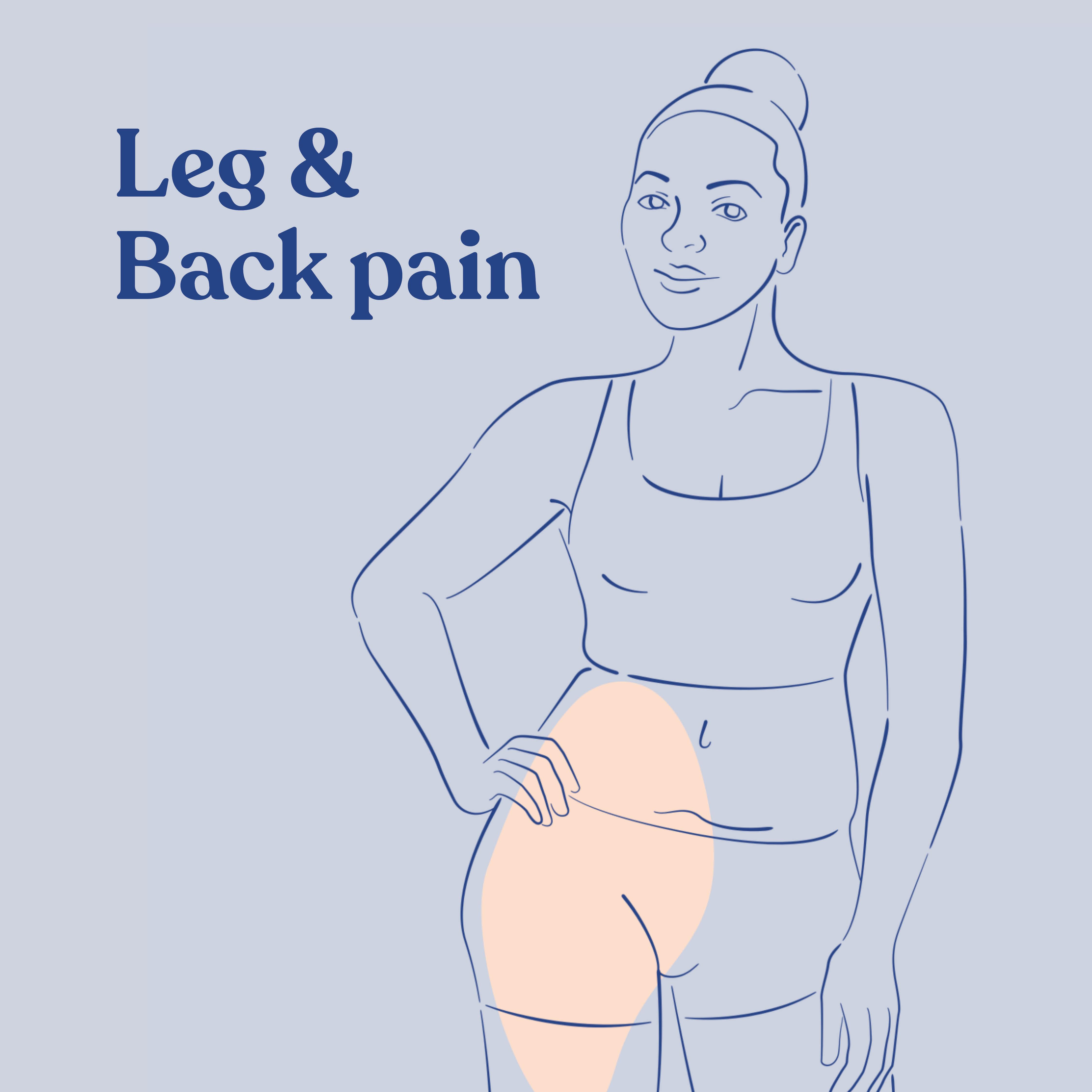 Leg and back pain, Symptoms treated by Accessa Procedure