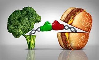 helthy vs unhealthy food