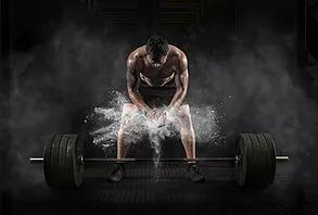 Fit man at gym