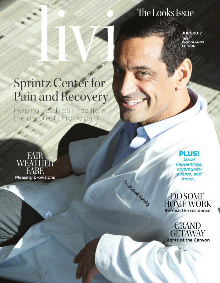 Living Magazine cover with Dr Michael Sprintz