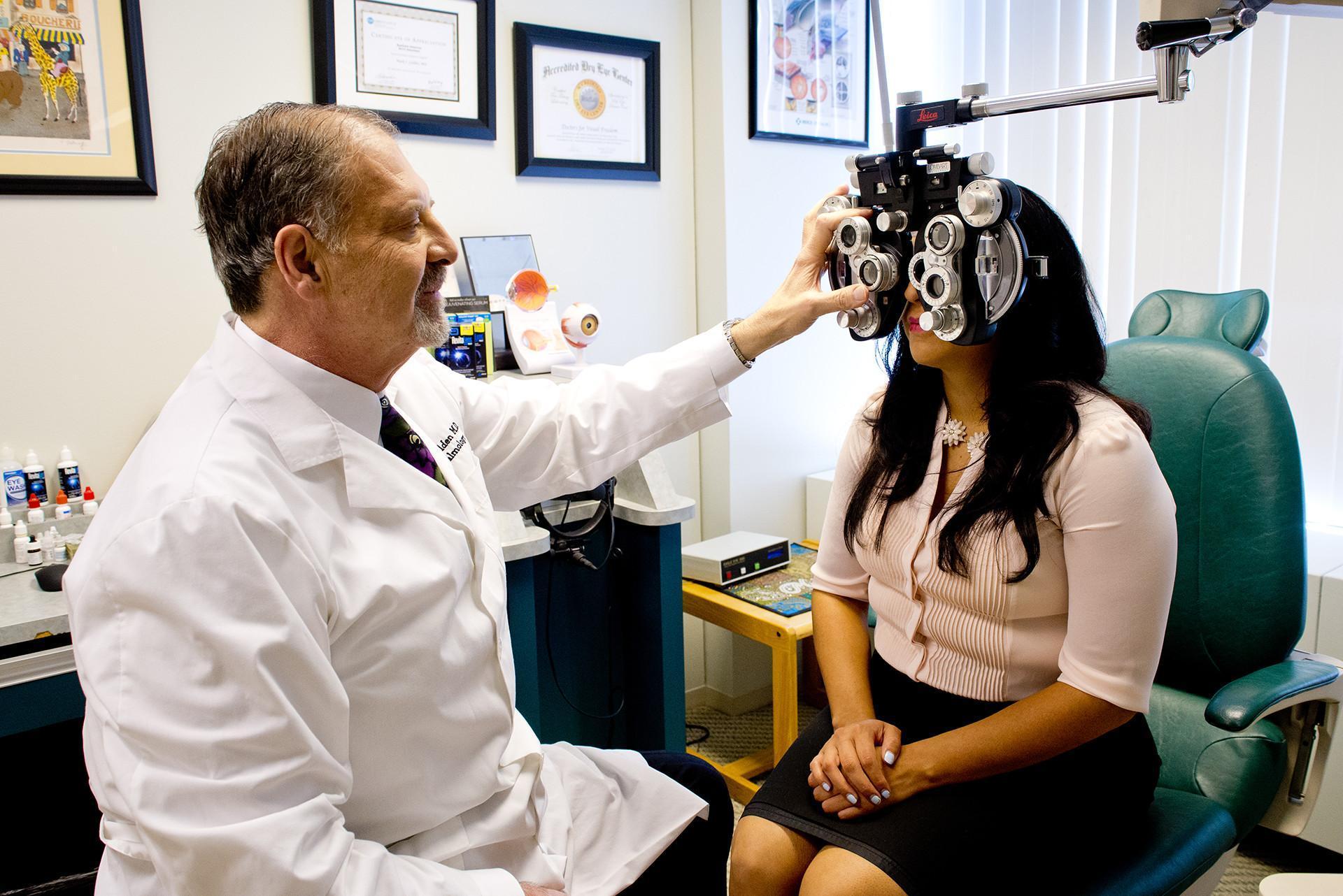 Dr. Golden's eye exam