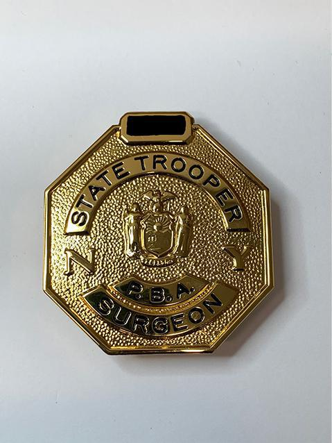 State troopers police surgeon badge