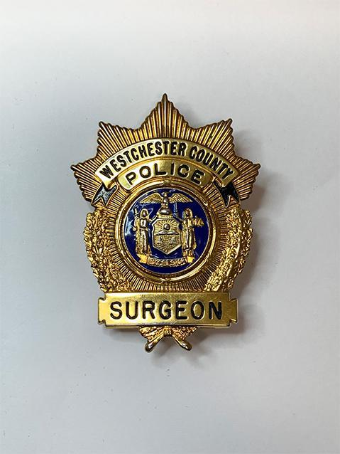 Westchester County police surgeon badge