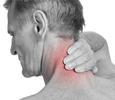 Radiating Neck Pain black and white photo