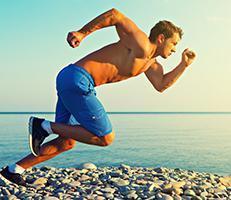 Man sprinting through sports injuries