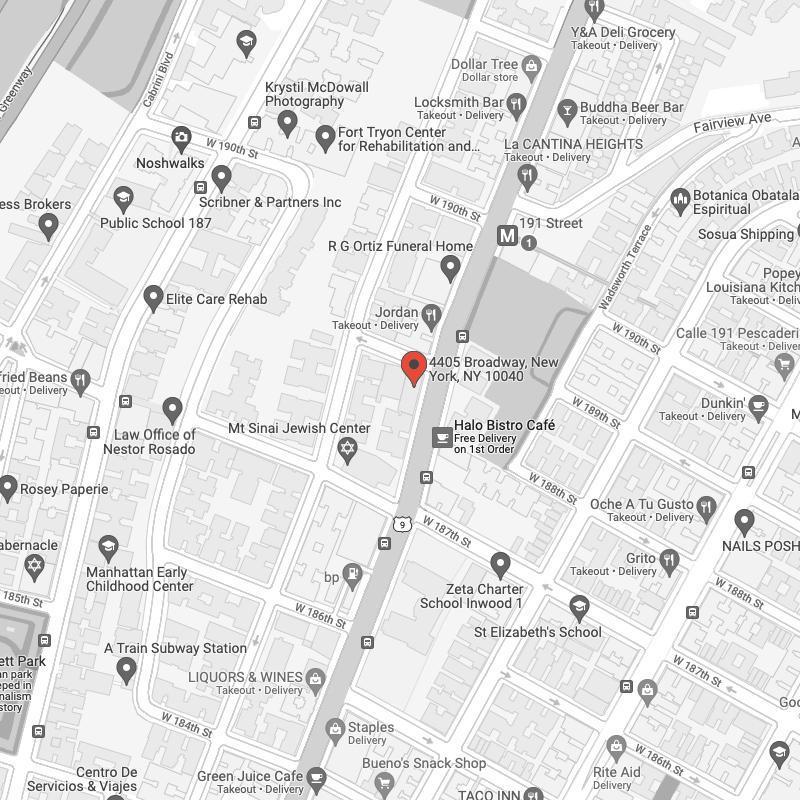 Google maps location of practice