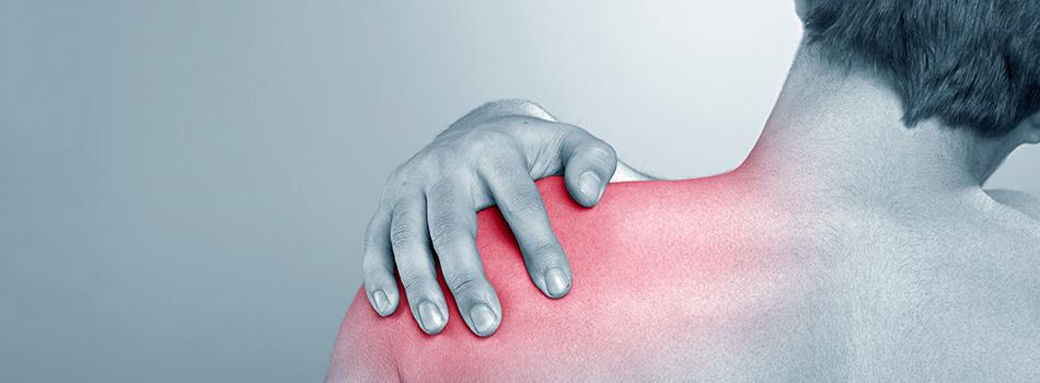 Person experiencing shoulder pain