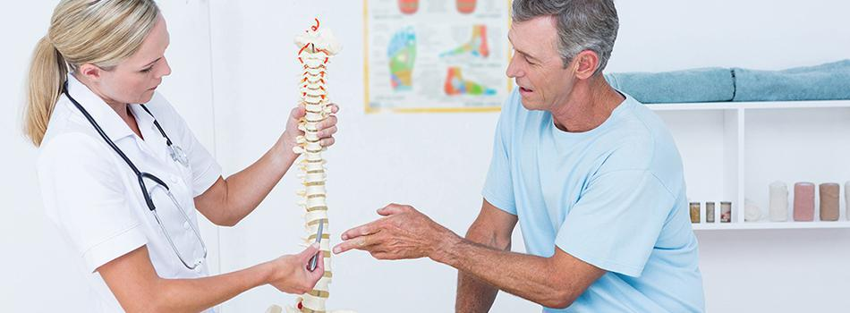 Patient learning about their Disc Injury