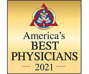 America's Best Physicians 2021 gold logo