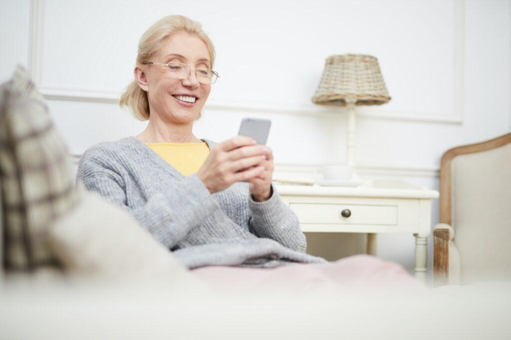 photo of woman on telehealth