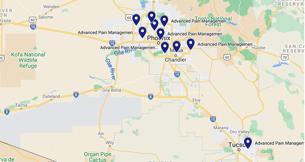 Map of All Advanced Pain Management Locations