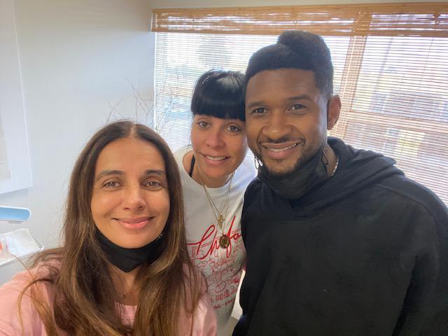 Usher and Dr. Amersi