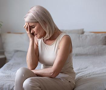 Woman experiencing hormone imbalance
