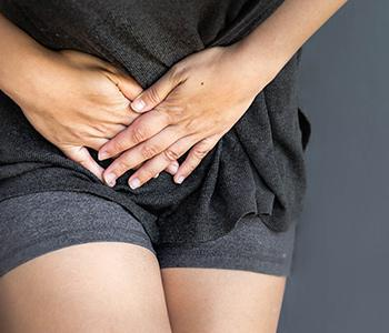 Woman with an overactive bladder
