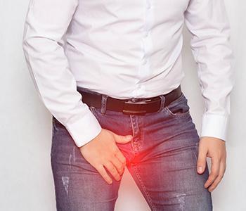 Man experiencing Hydrocele