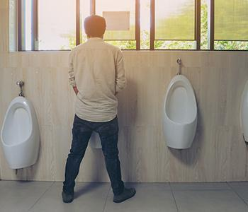 Man suffering from an overactive bladder