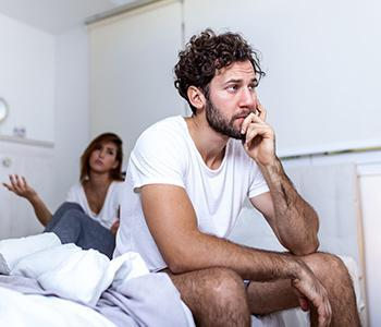 Man suffering from Premature Ejaculation