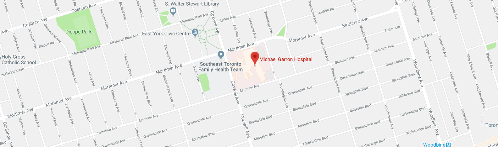 michael garron hospital map