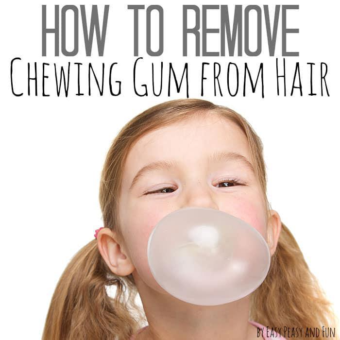 how to remove gum from hair