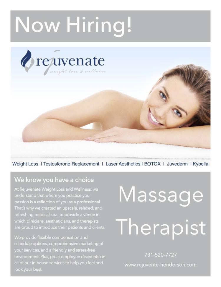Now Hiring!: Rejuvenate Weight Loss and Wellness: Med Spa