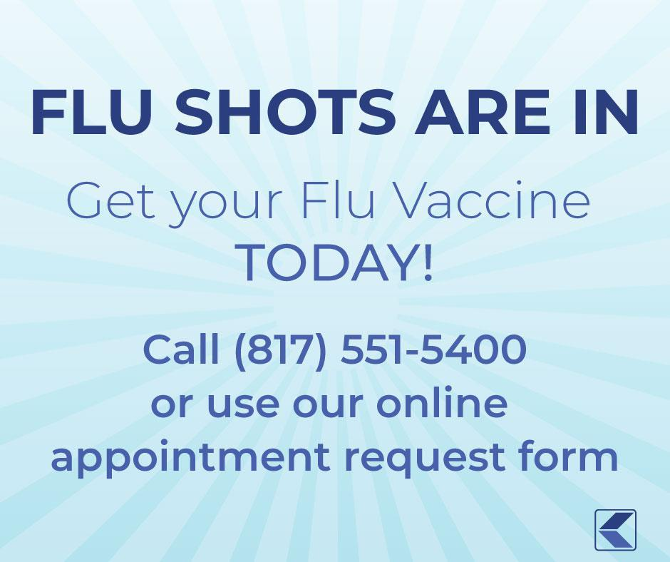 Flu Shots are in call or book online
