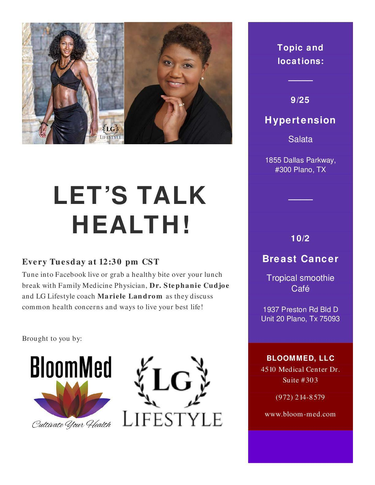 Lets Talk Health Event Flyer