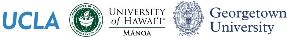 UCLA logo, Hawaii University Logo, Gerogetown Logo