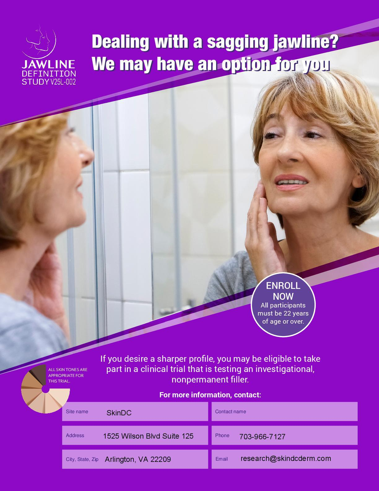 Jawline Definition Study flyer