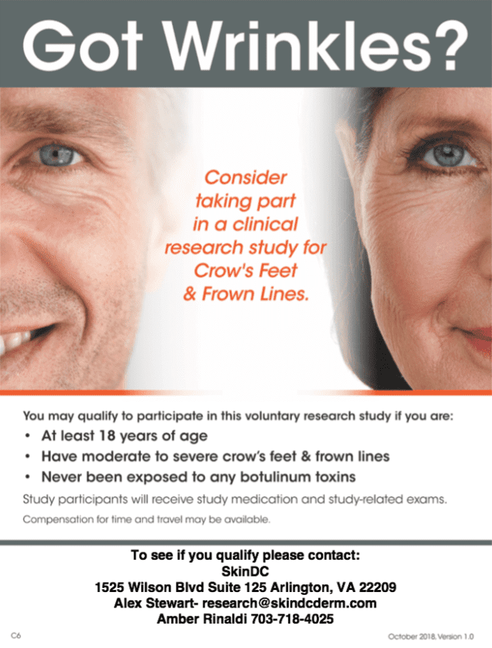 wrinkles flyer clinical study