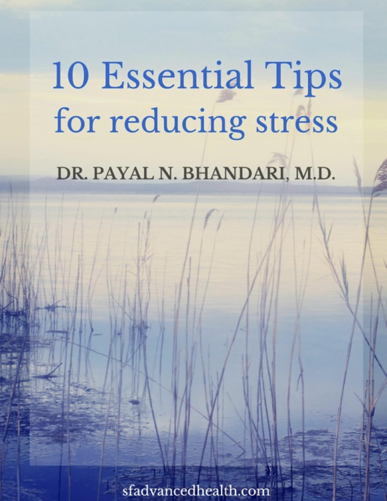 10 Ways to Decrease Stress Cover