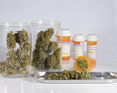 marijuana medication in bottles
